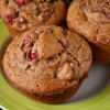 Raspberry and Fig Wheat Muffins