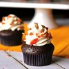 Bacon Chocolate Cupcakes with Maple Frosting
