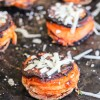 Rosemary Garlic Parmesan Sweet Potato Stacks